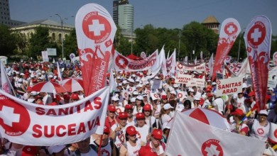 Photo of Proteste în București. Federaţia Sanitas pichetează Parlamentului României