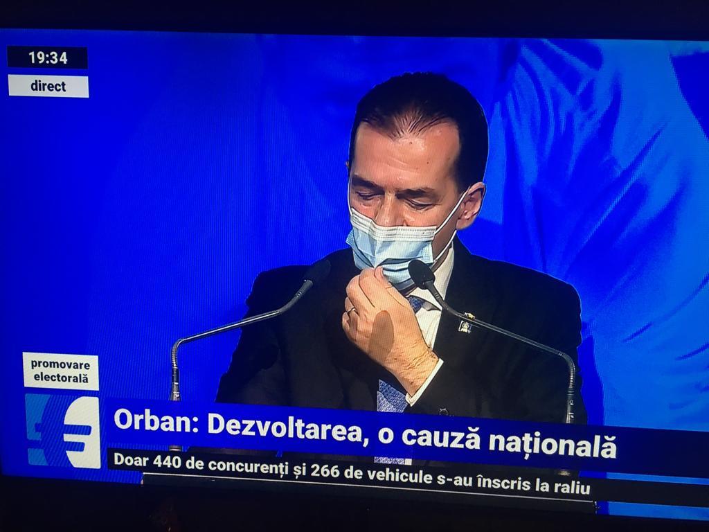 Premierul Ludovic Orban duce din nou mina la masca