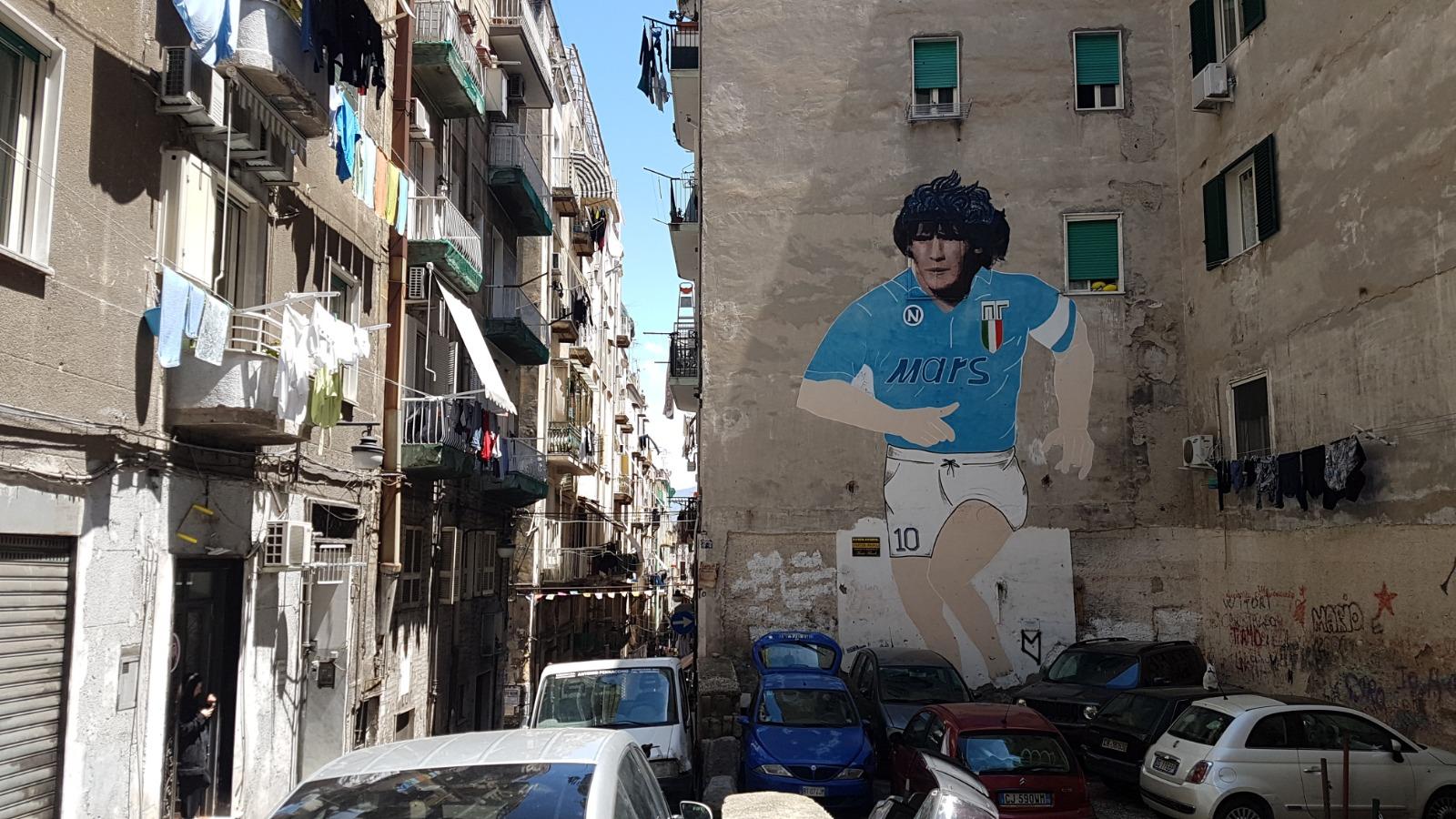 diego maradona pictura murala la napoli