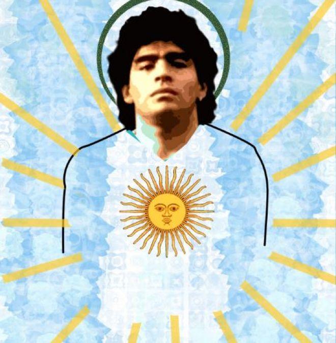 diego maradona pictura murala argentina