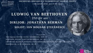 """Photo of Orchestra simfonică a Filarmonicii """"George Enescu"""" susține, joi, concert în cadrul Anului Beethoven"""