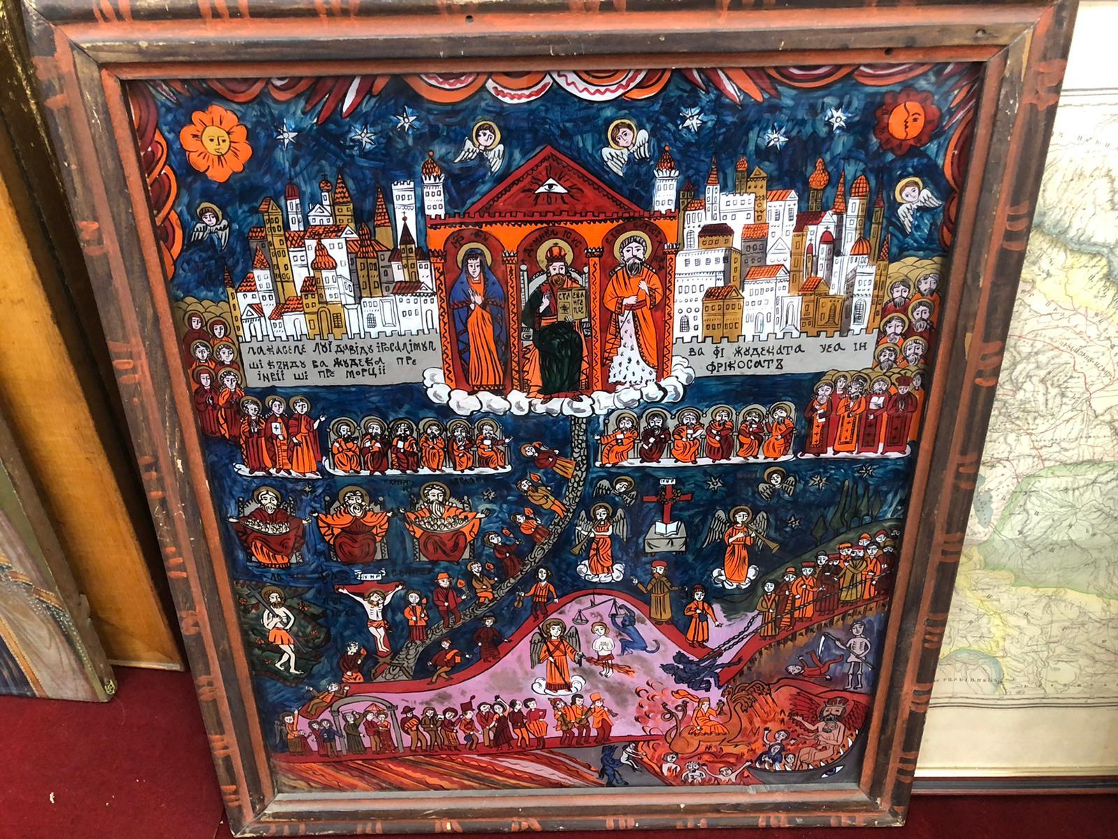 icoana, pe sticla, biserica, armeneasca din bucuresti