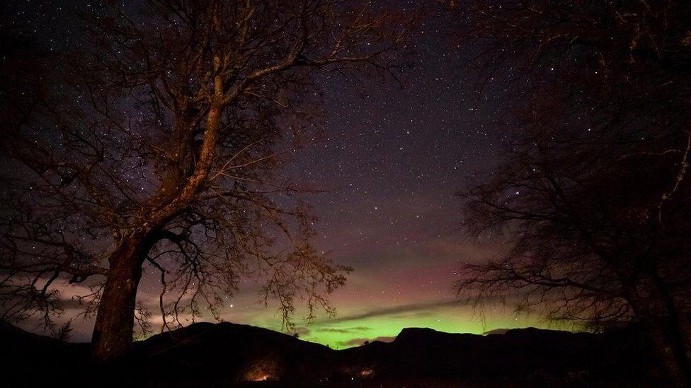 Aurora de la Glenelg, din vestul Highlands