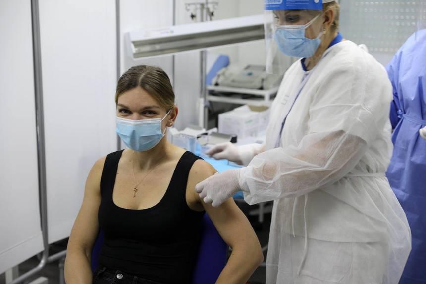 Simona Halep s-a vaccinat anti-COVID