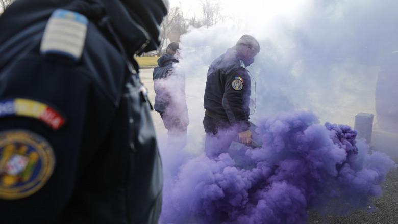 Amenzi de 10.000 de lei în urma protestului polițiștilor din București