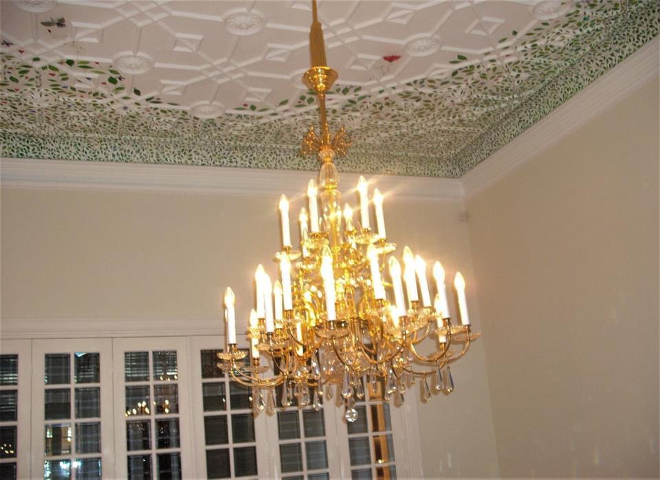 tavan, sufragerie, vila, in stil, neoromanesc