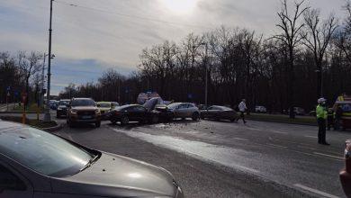 Photo of Accident în lanț în București. Cinci mașini s-au tamponat în zona Primăverii
