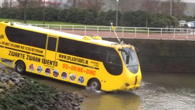 Photo of Sună aproape SF. Plimbare cu autobuzul-amfibie pe lacurile Herăstrău, Floreasca și Tei din București