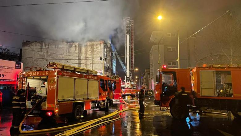 Incendiu în București