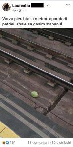 """O varză """"s-a pierdut"""" la metrou"""