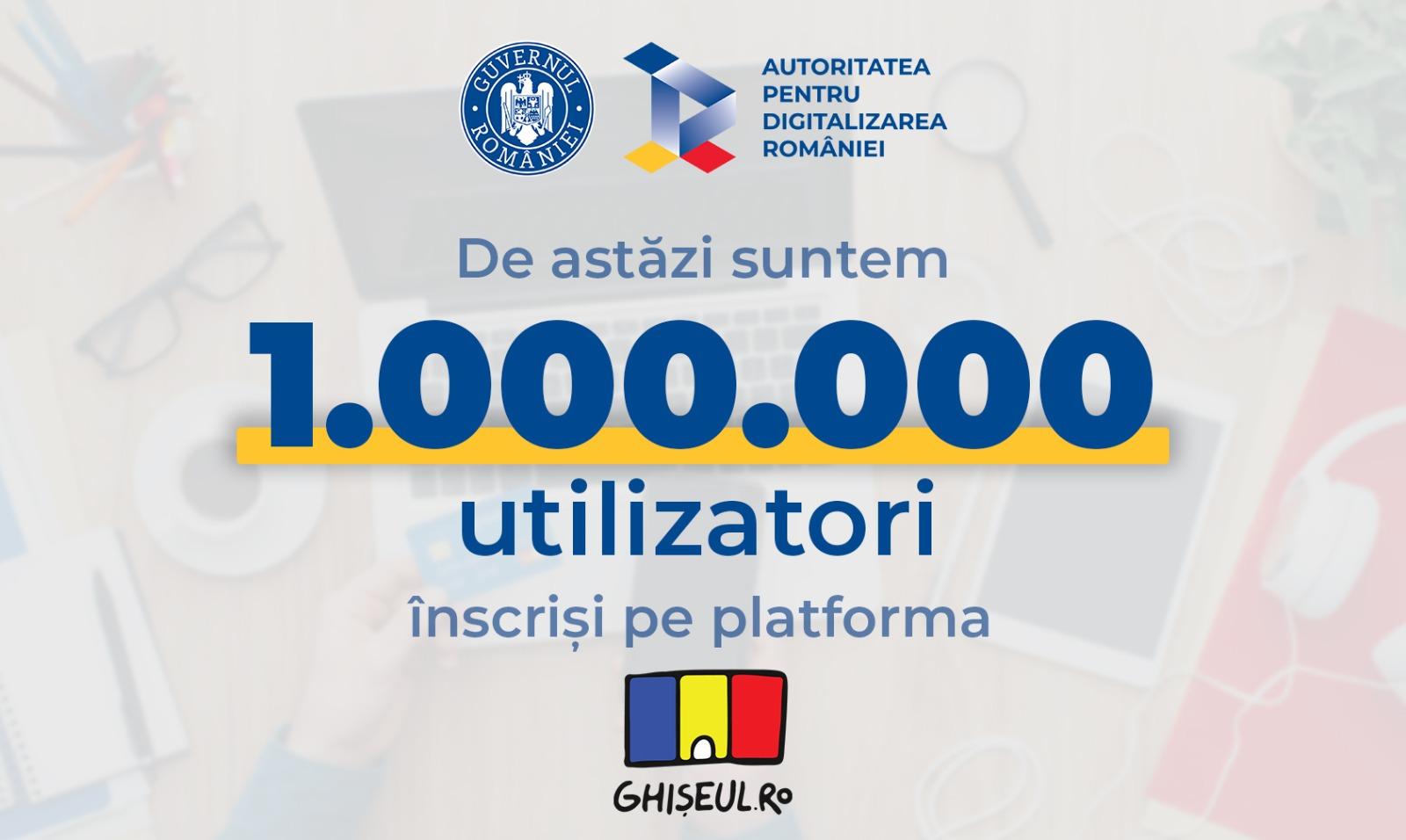 """1 milion de utilizatori sunt înregistrați pe Ghișeul.ro pentru plata impozitelor. PS: Un bucureștean a făcut """"cifra rotundă"""""""
