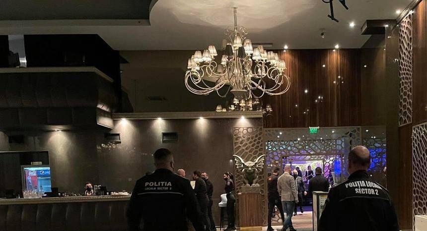 Petrecere oprită de polițiști într-un club de fițe