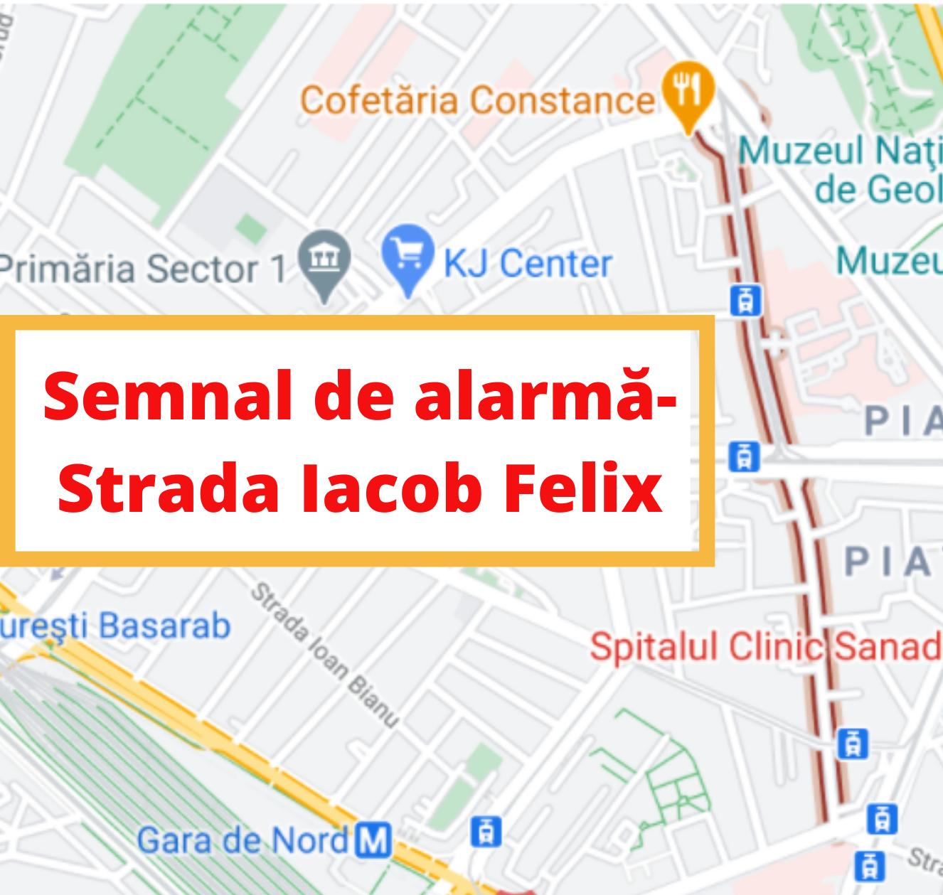 """Pe cititorii noștri îi lasă nervii. Strada Iacob Felix din București, """"veșnicul coșmar al participanților la trafic"""""""