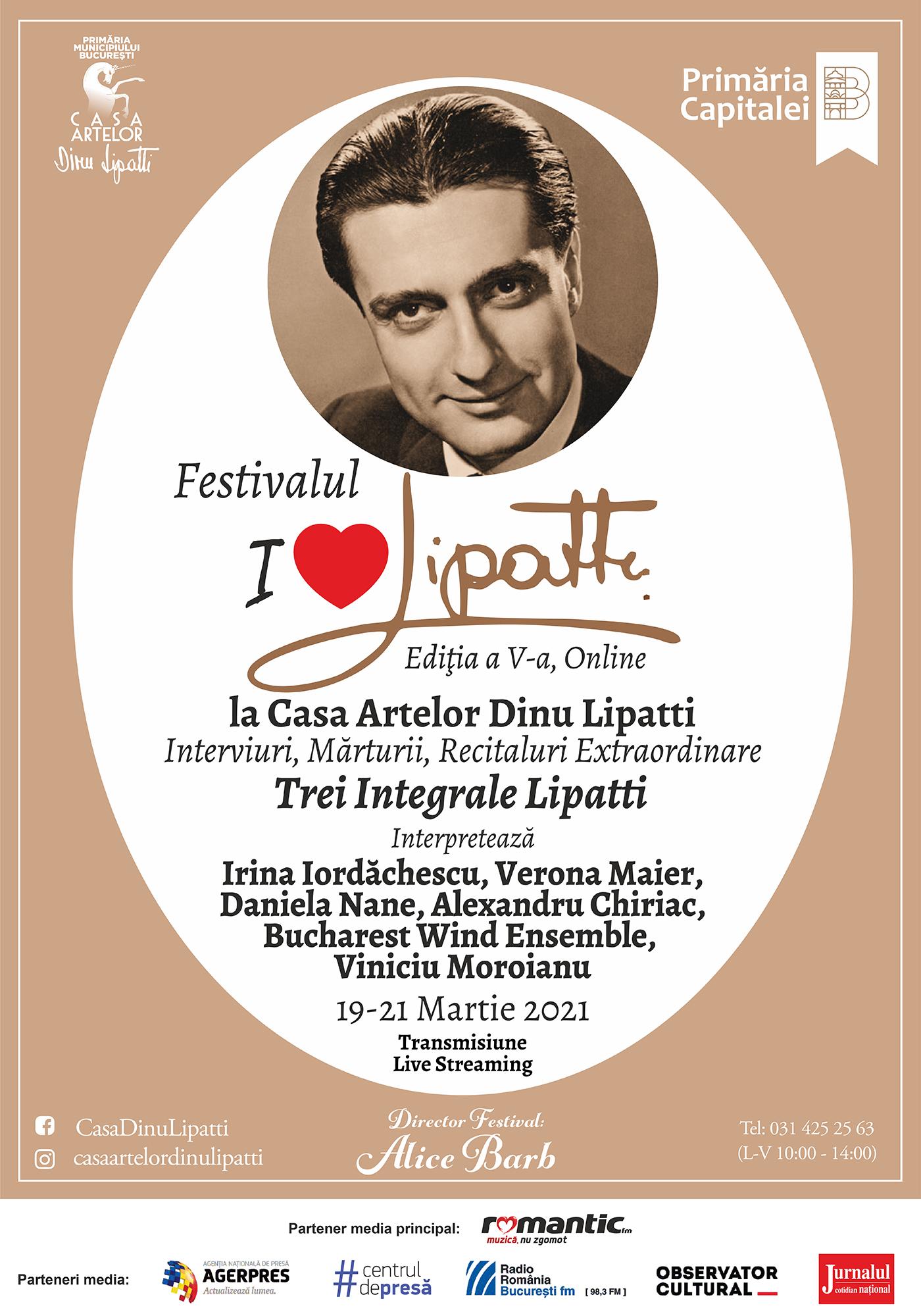 "Festivalul "" I love Lipatti"", Ediția a V-a, la Casa Artelor Dinu Lipatti"