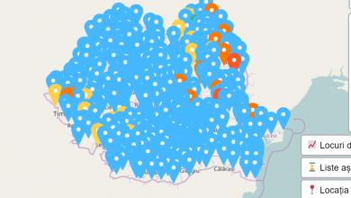 Photo of Schimbări aduse platformei de vaccinare anti-COVID. Harta interactivă a centrelor de vaccinare, pe tipuri de vaccin