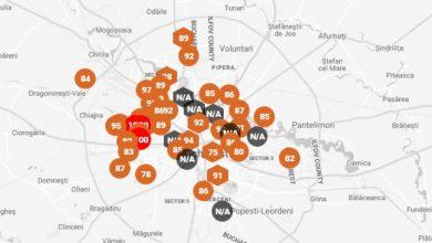 Photo of Harta poluării din București. Care sunt ACUM cele mai afectate zone