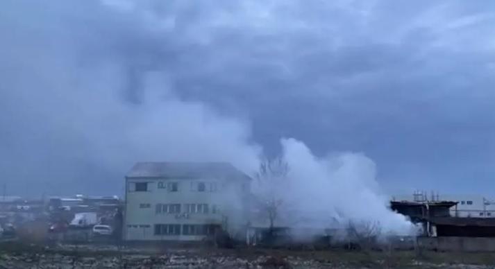 Incendiu lângă București