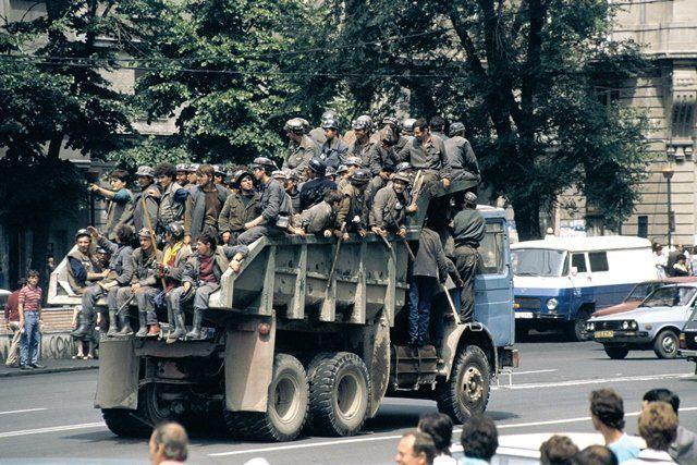 minerii la București
