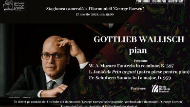 """Photo of Filarmonica """"George Enescu"""" și pianistul Gottlieb Wallisch. Recital cameral extraordinar fără public"""