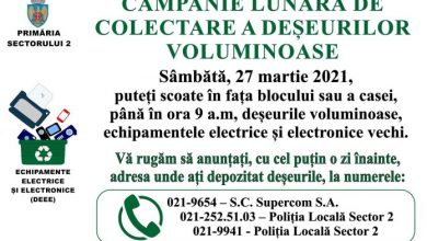 Photo of Atenție, hoarderilor. Sâmbătă, o nouă acțiune de colectare gratuită a deșeurilor voluminoase în Sectorul 2 al Capitalei