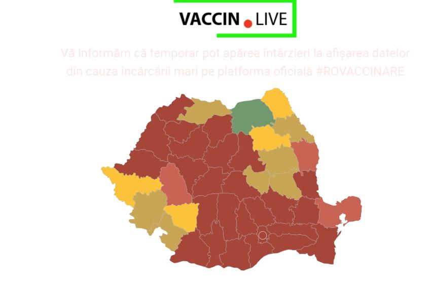 Harta vaccinării din România