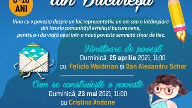 """Photo of """"Superpoveşti evreieşti din Bucureşti"""". Un eveniment dedicat copiilor și adolescenților care vor să afle mai mult despre istoria comunității"""