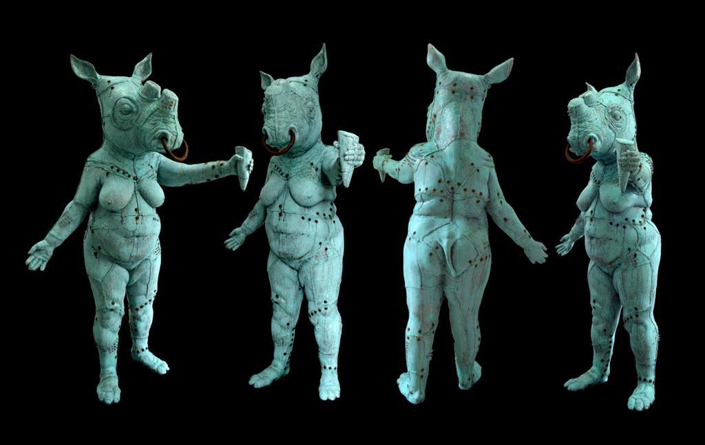 Una dintre sculpturile ce va fi licitata în cadrul Licitatiei Artmark
