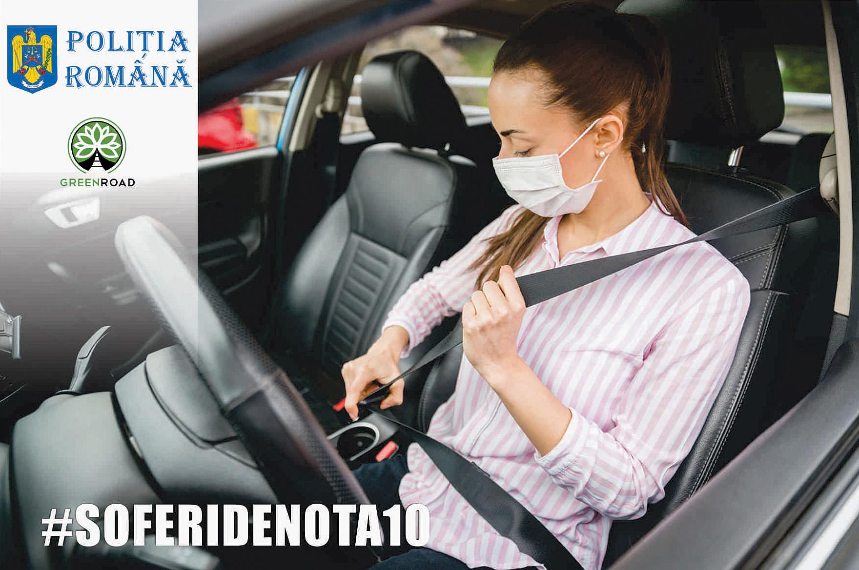 """Asociația Green Road lansează, în parteneriat cu Poliția Română, campania """"Șoferi de nota 10!"""". Cum te poți înscrie"""