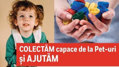 Photo of Campanie umanitară demarată de DGASMB. Bucureștiu, mobilizat să adune capace de plastic pentru Ștefănel