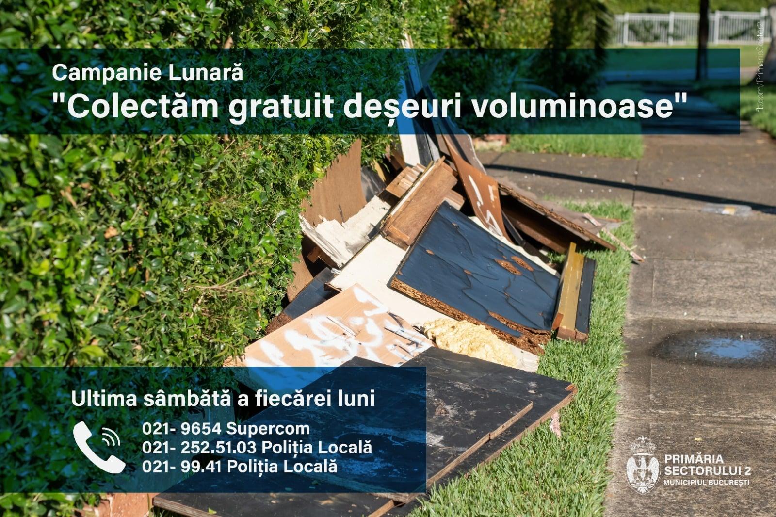 acțiune de colectare gratuită a deșeurilor voluminoase