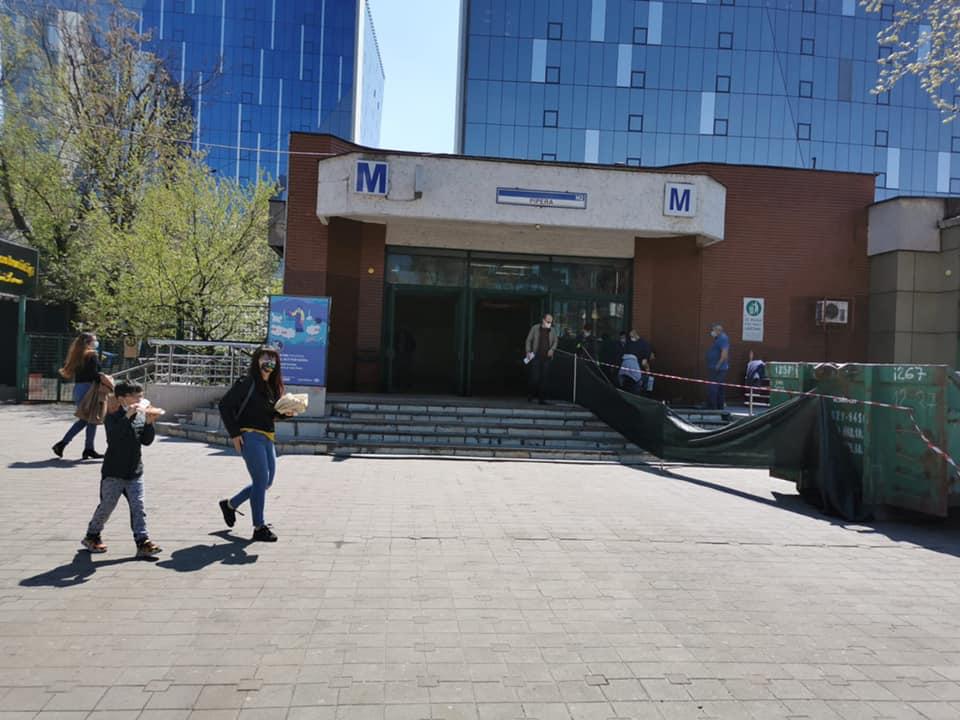 Metrorex continuă lucrările la stația de metrou Pipera