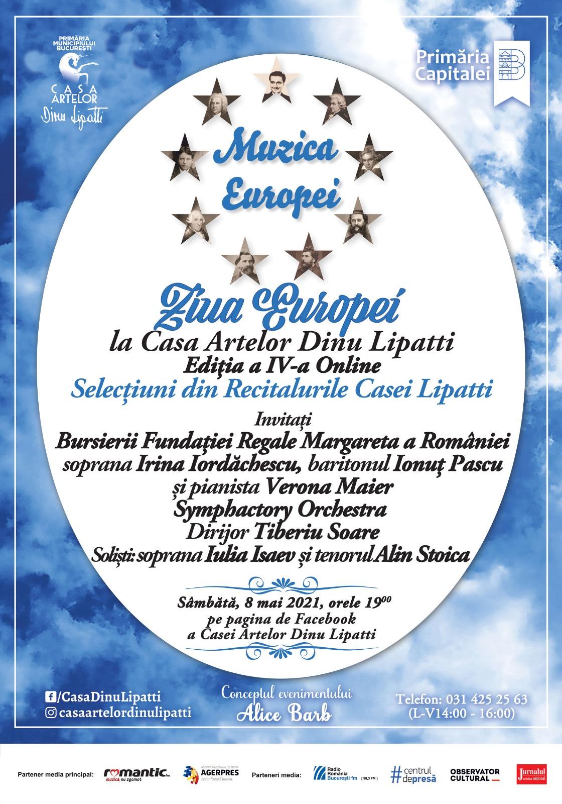 """Casa Artelor Dinu Lipatti sărbătorește """"Ziua Europei – Muzica Europei Ediția a IV-a Online"""""""