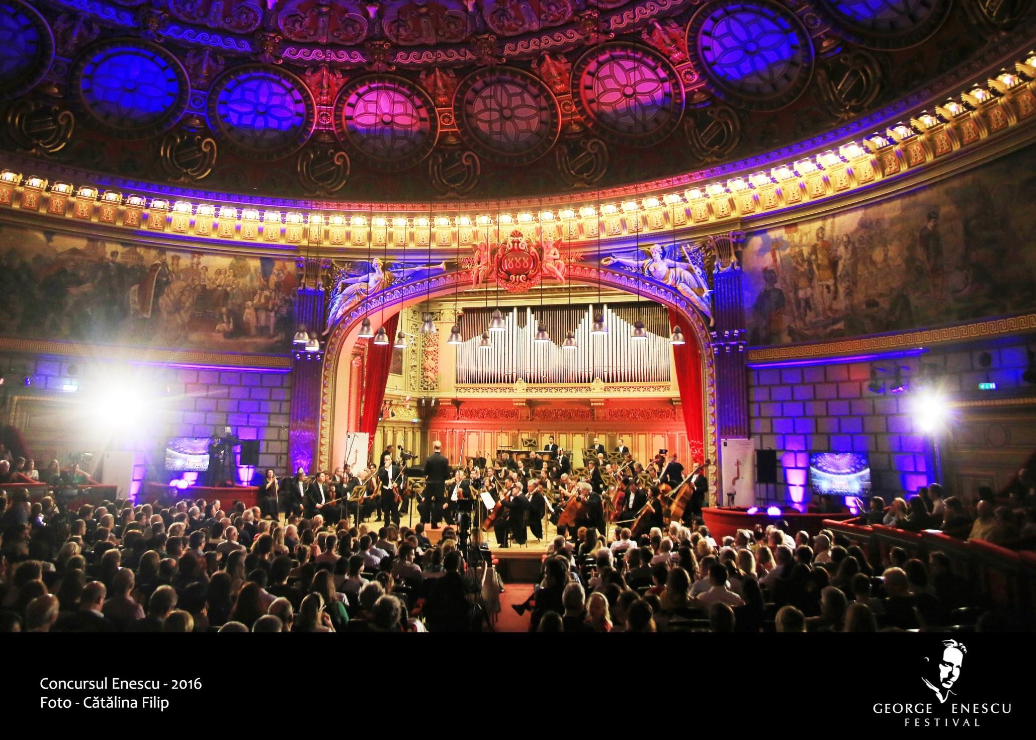 În vânzare de azi, număr limitat de locuri la Ateneu pentru concertele Concursului Enescu