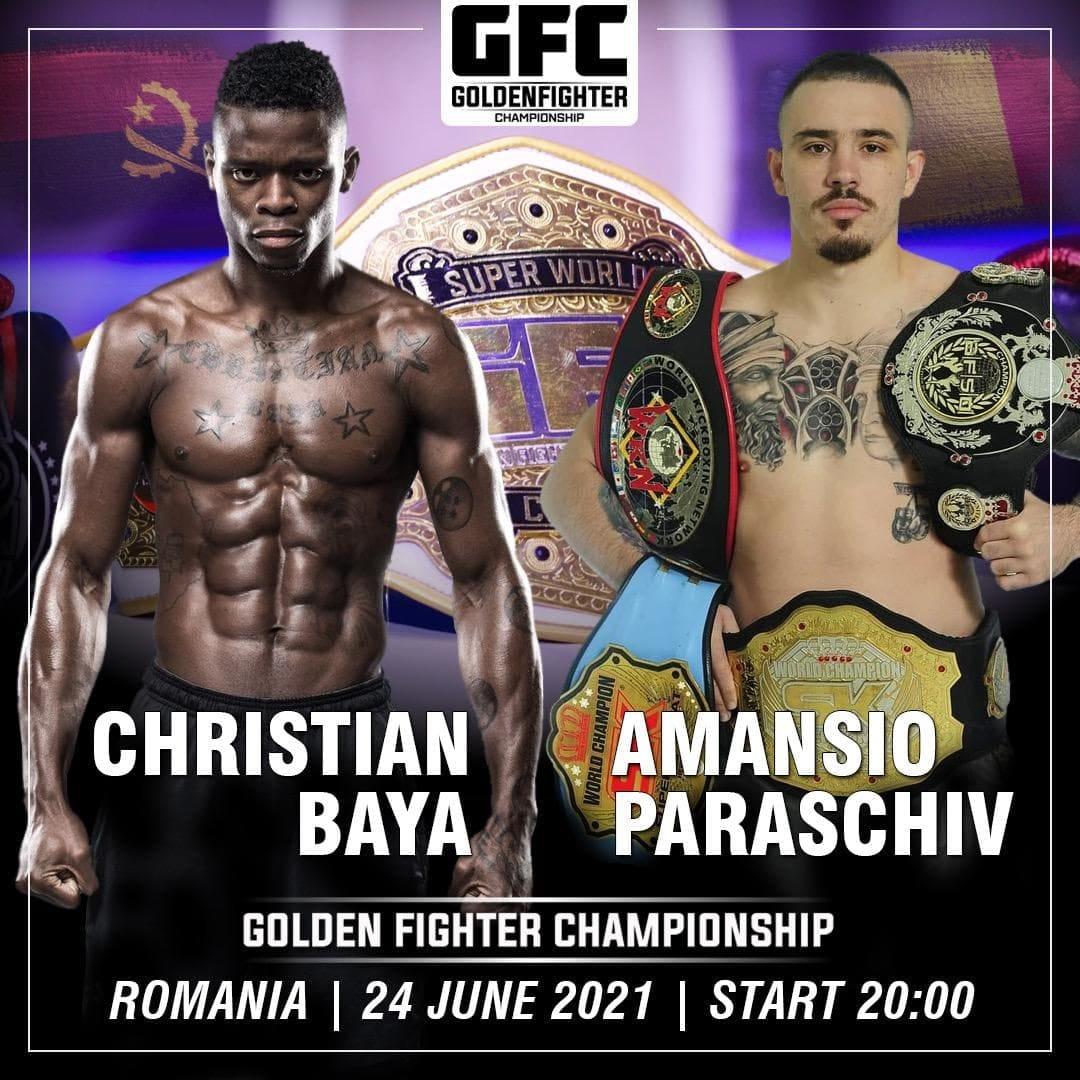 Golden Fighter Championship 7 se desfășoară la București. Amansio Paraschiv se bate cu Christian Baya, luptător Glory
