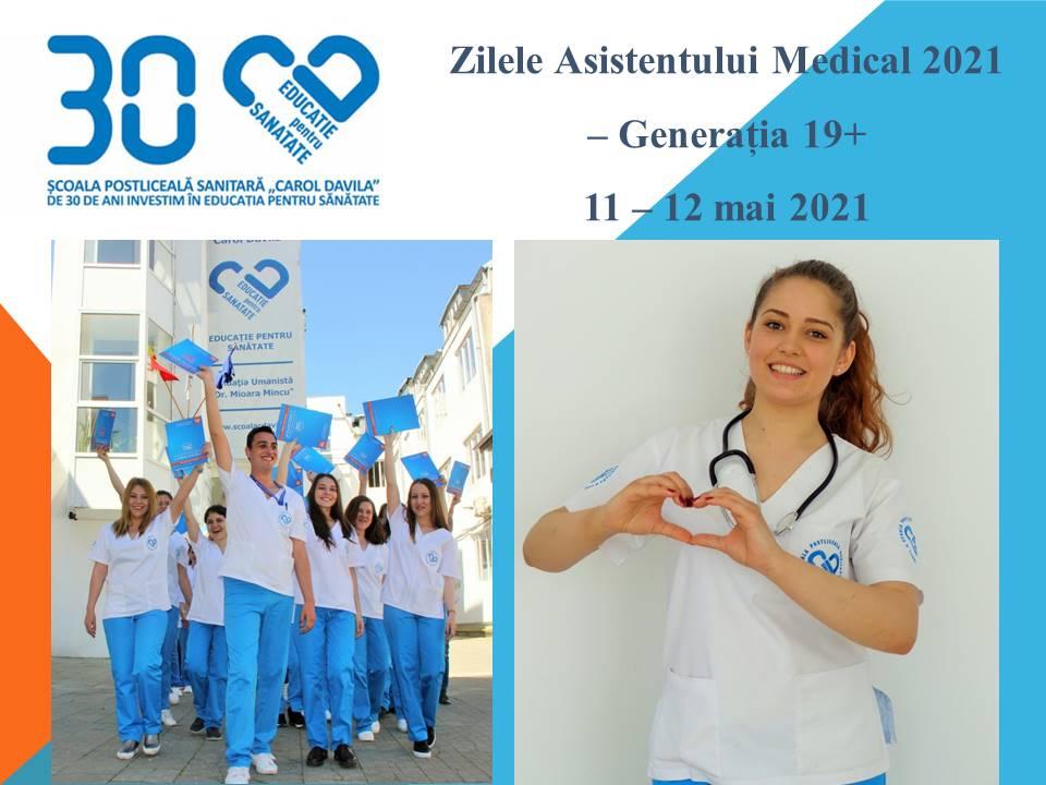 """Școala Postliceală Sanitară """"Carol Davila"""" organizează Zilele Asistentului Medical 2021 – Generația 19+"""