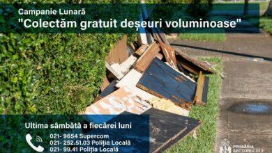 Photo of Acțiune de colectare gratuită a deșeurilor voluminoase în Sectorul 2