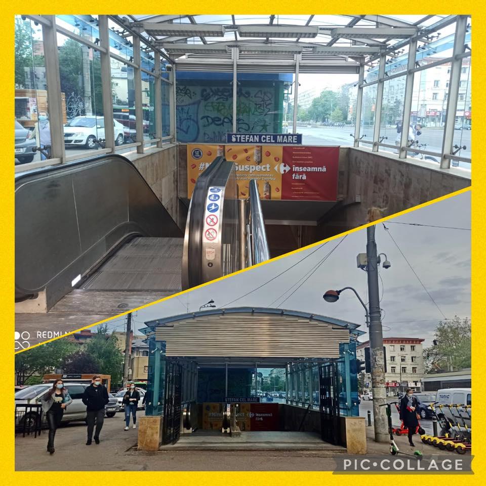 Se închide o cale de ieșire de la stația de metrou Ștefan cel Mare. Metrorex explică de ce