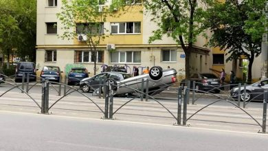 Photo of Accident spectaculos în Capitală. O mașină s-a răsturnat pe șoseaua Colentina