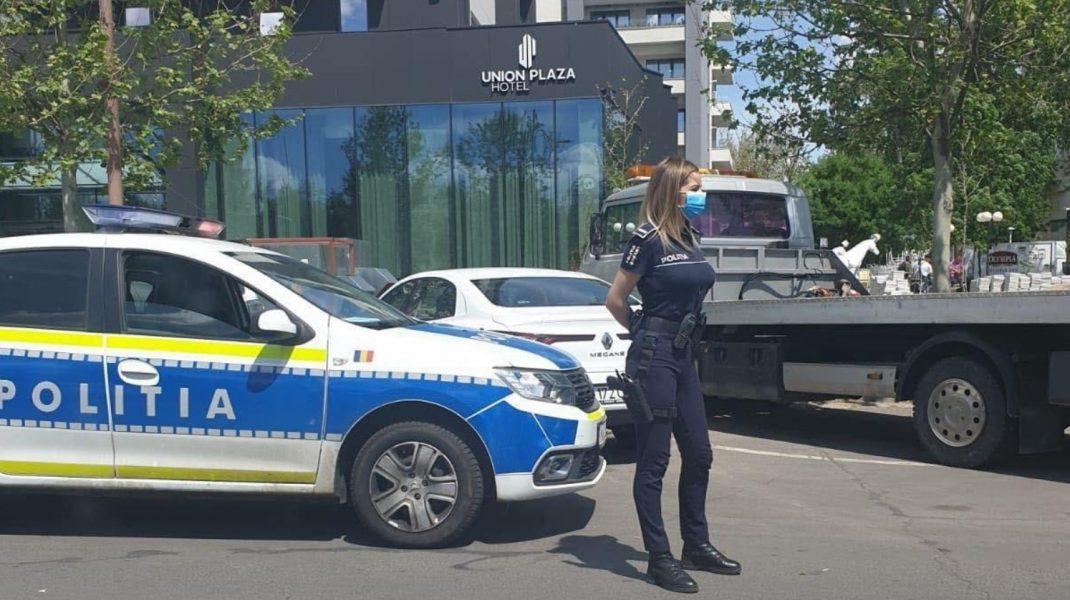 Fotografia cu o polițistă din București