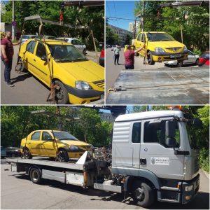 se ridică mașinile abandonate în sectorul 6