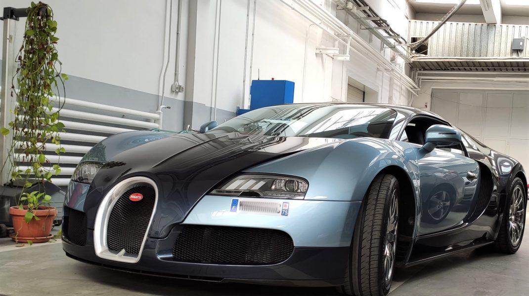 Un Bugatti Veyron a fost verificat la RAR Grivița
