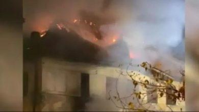 """Photo of Incendiu în București. Liceul """"Timpuri Noi"""" a fost cuprins de flăcări"""