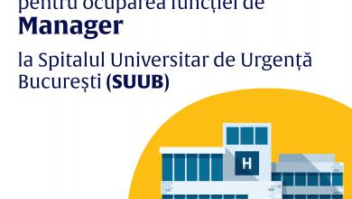 Photo of Se caută manager pentru Spitalul Universitar de Urgență Bucureşti. Ministerul Sănătății spune care sunt etapele concursului