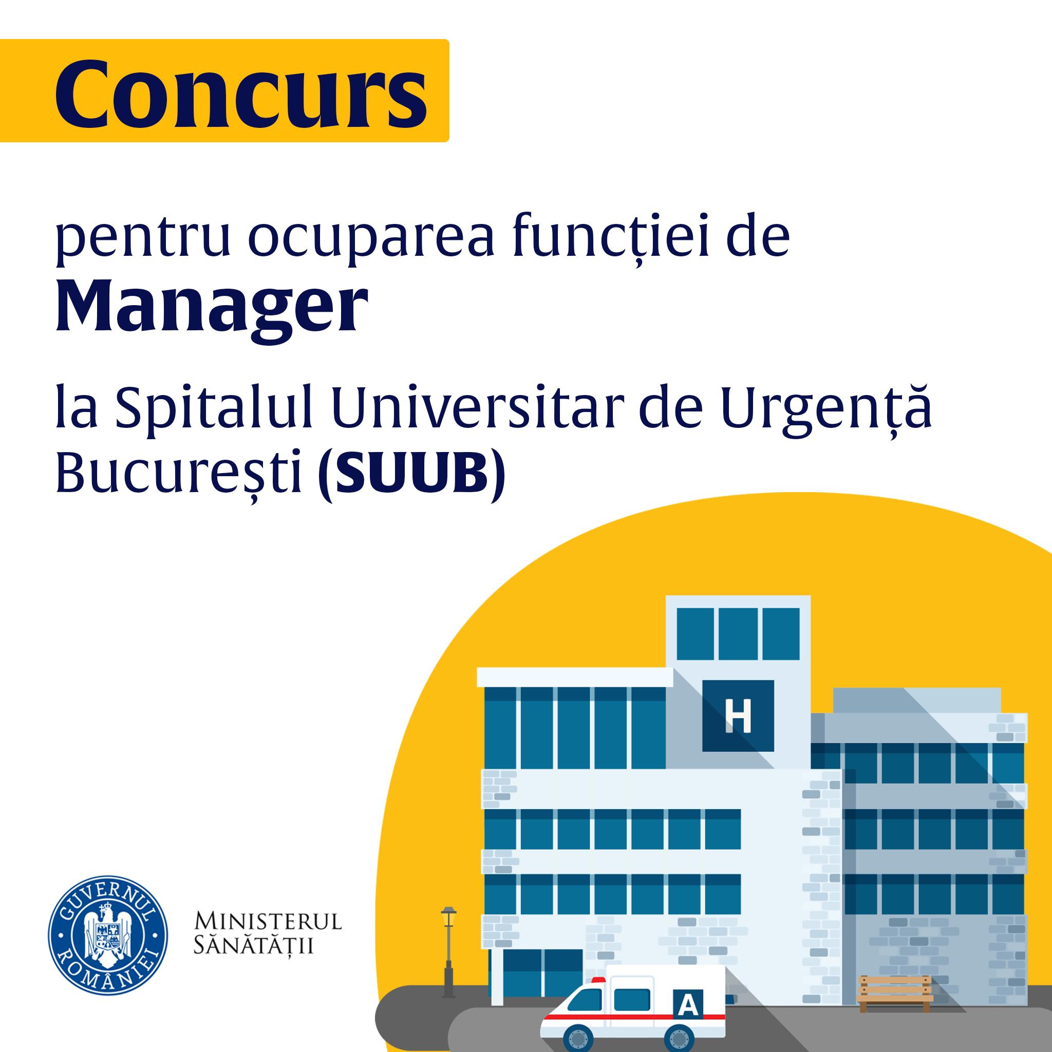 Se caută manager pentru Spitalul Universitar de Urgență Bucureşti. Ministerul Sănătății spune care sunt etapele concursului