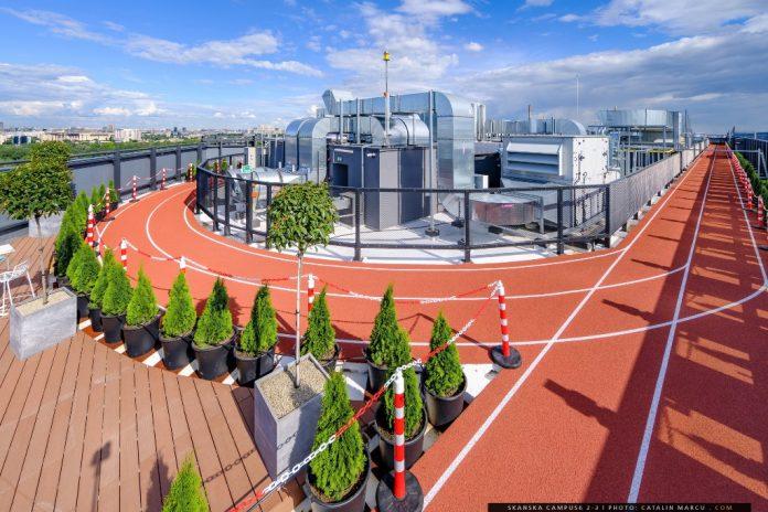 Pistă de alergare pe acoperiș