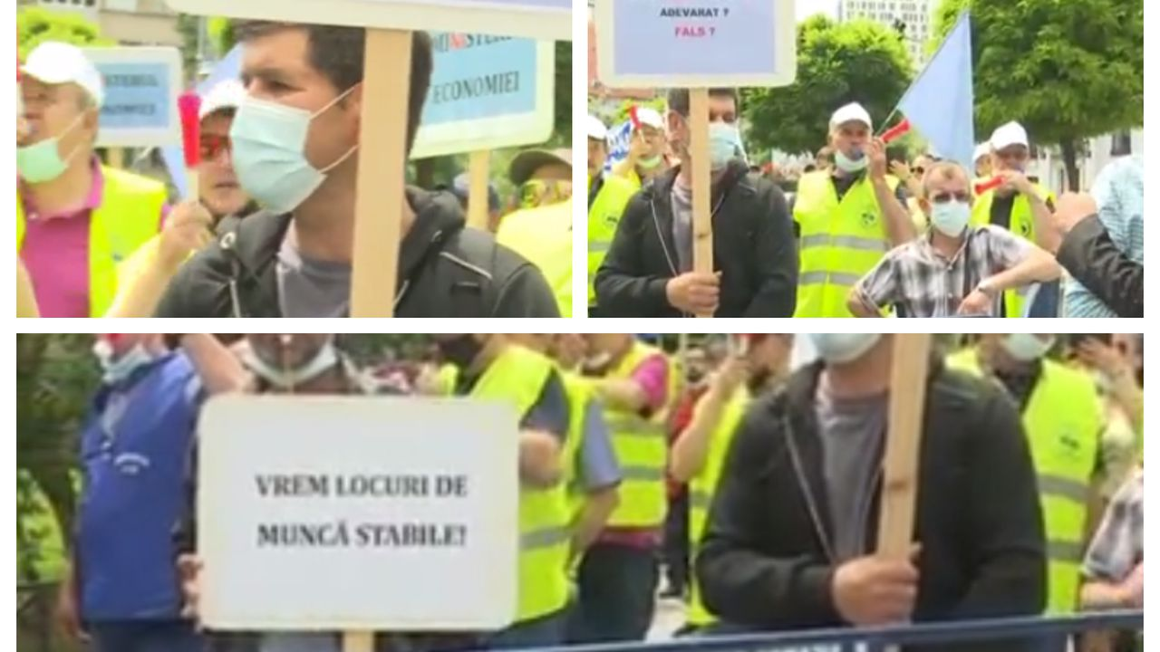 Protest la Ministerul Economiei