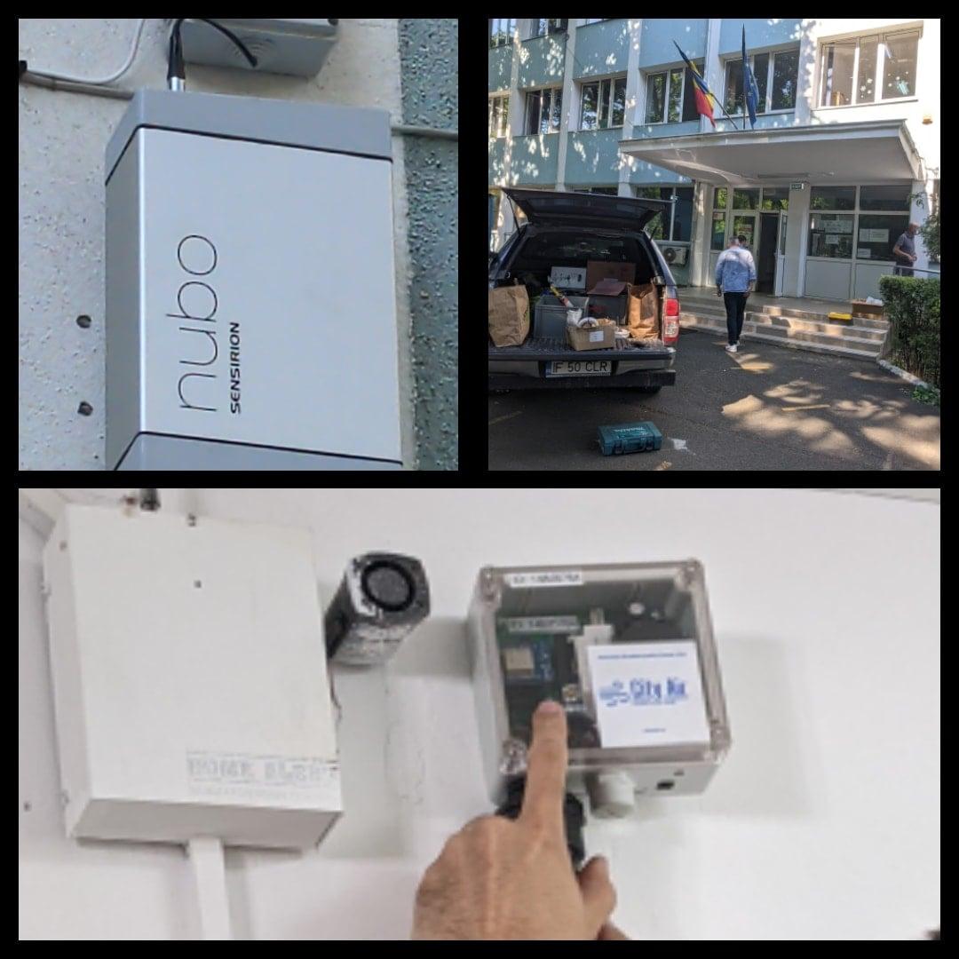 A început instalarea senzorilor pentru măsurarea calității aerului în școlile din Sectorul 6