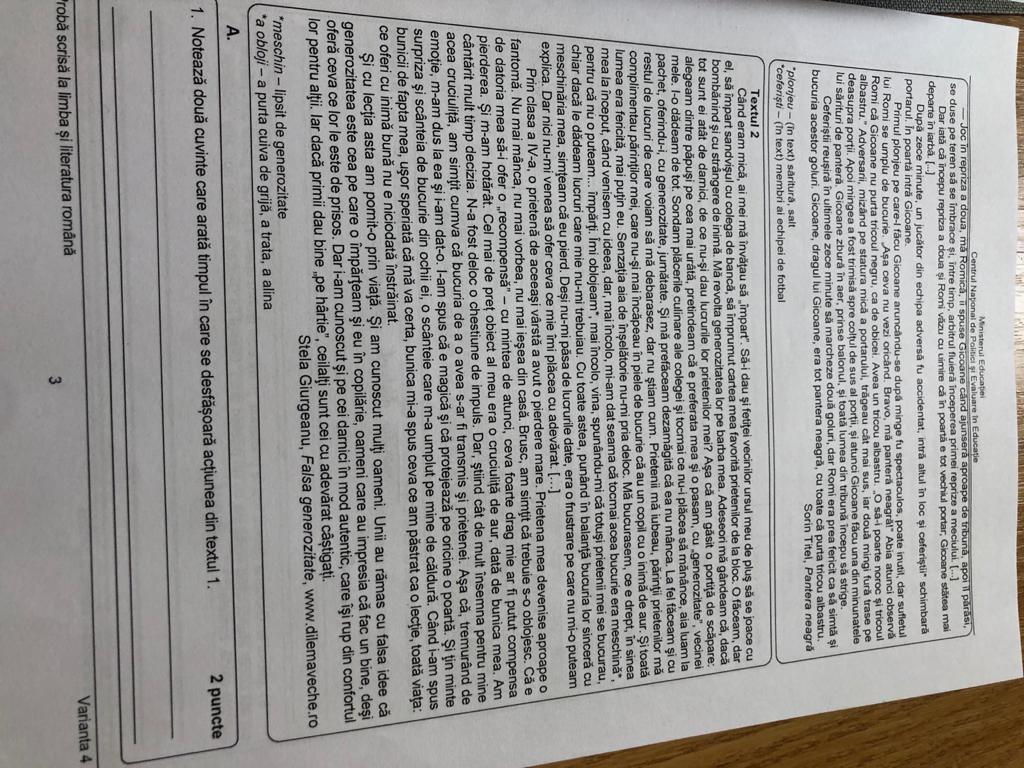 brosura, evaluare, clasa a VIII-a