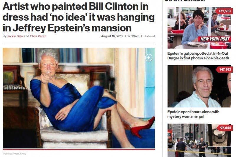 bill, clinton, tablou