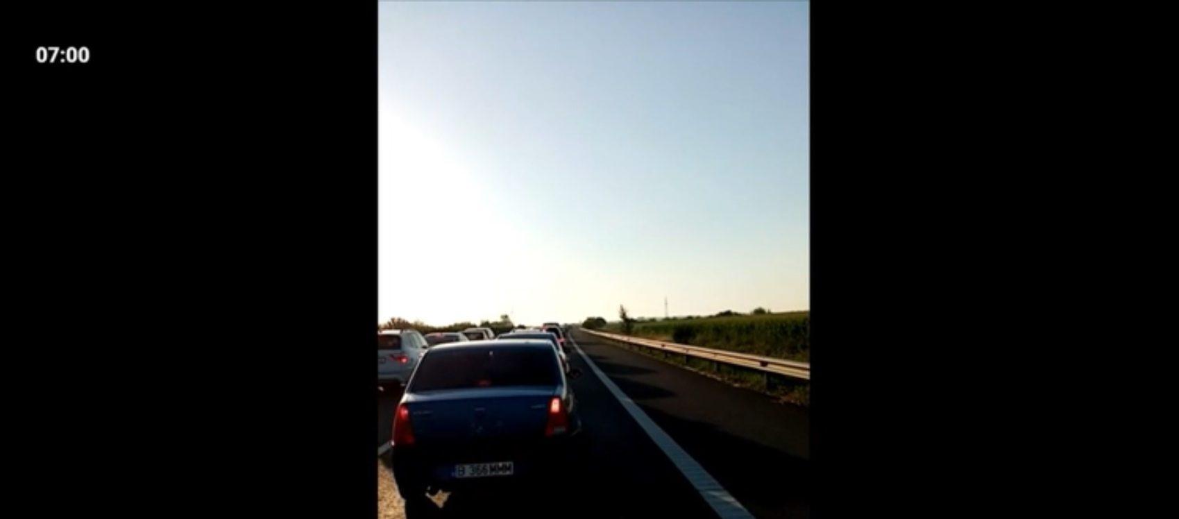 Accident pe Autostrada Soarelui. O persoană a fost rănită, iar traficul a fost îngreunat